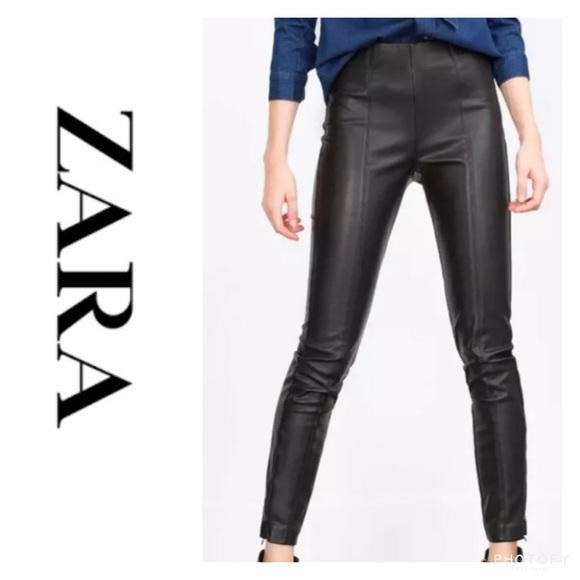 88985eef Zara Pants | Trafaluc High Waisted Faux Leather Leggings | Poshmark